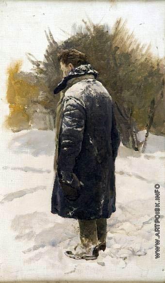 Серов В. А. Мужчина с шапкой в руке. Этюд к картине «23 января 1924 г. Горки. Похороны В.И. Ленина»