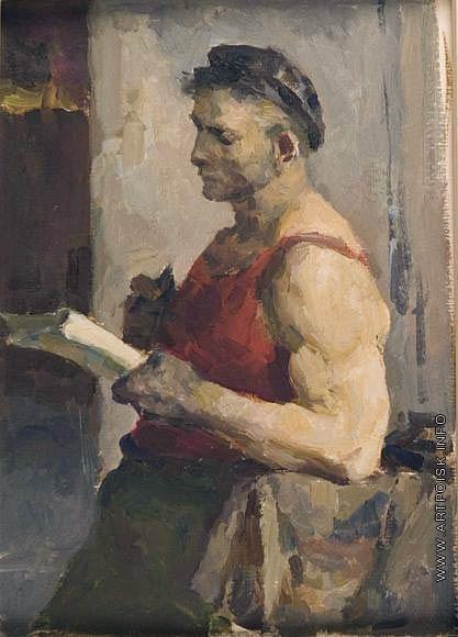 Серов В. А. Эскиз к картине «Рабочий»