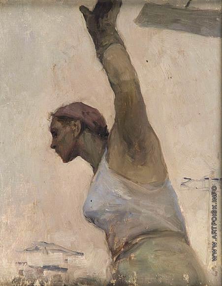 Серов В. А. Эскиз к картине «Строительница»
