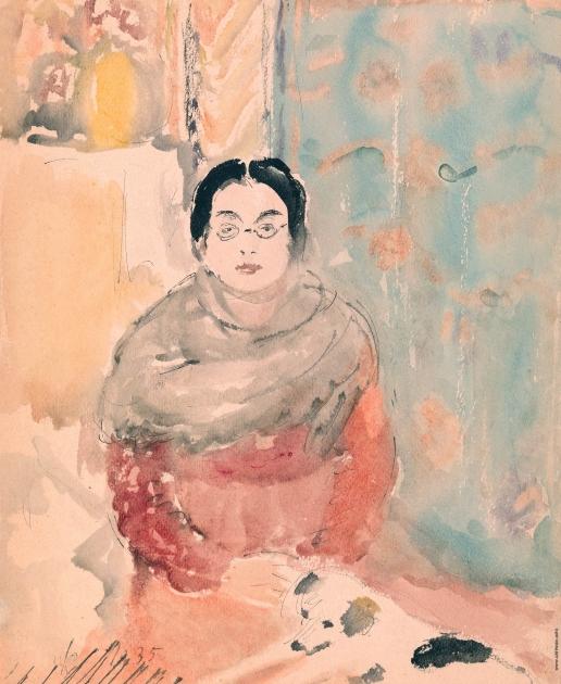 Софронова А. Ф. Портрет женщины с собакой