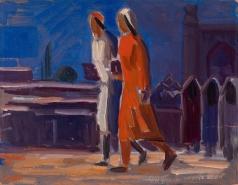 Карахан Н. Г. Узбекские женщины на улице
