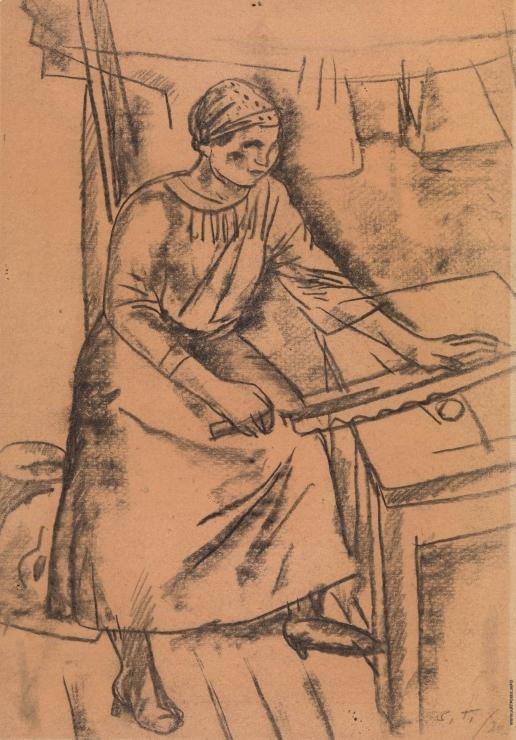 Герасимов С. В. Гладящая женщина