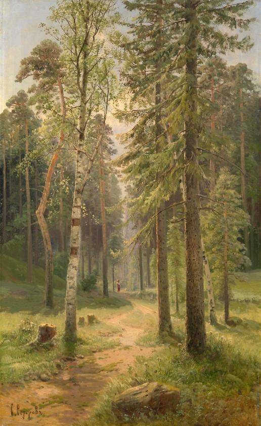 Федоров С. Ф. Лесной пейзаж