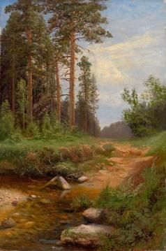 Федоров С. Ф. Лесной пейзаж с ручьем