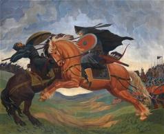Якоби М. П. Бой между Пересветом и Челубеем перед Куликовской битвой