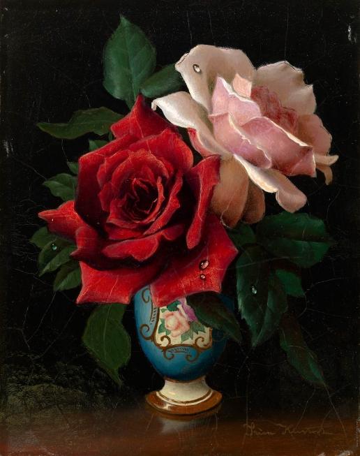 Клестова И. Красная и розовая розы