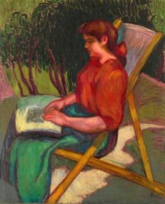 Песке И. Читающая девушка