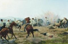 Бунин Н. Н. Смерть генерала Келлера во время боя на Янзелинском перевале. 1904 год