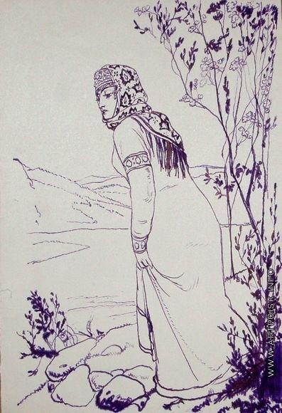 Серов В. А. Женщина у реки