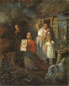 Бухгольц Ф. Ф. Пожар в деревне