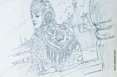 Серов В. А. Женщина в узорчатом платке