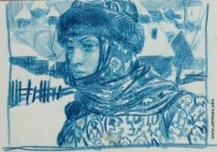 Серов В. А. Женщина в старинной шапке