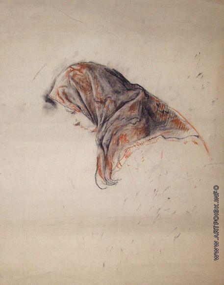 Серов В. А. Рисунок женской головы в платке