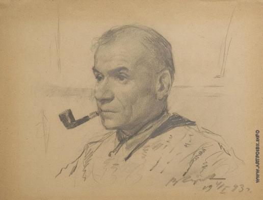 Серов В. А. Портрет художника Константина Ивановича Рудакова