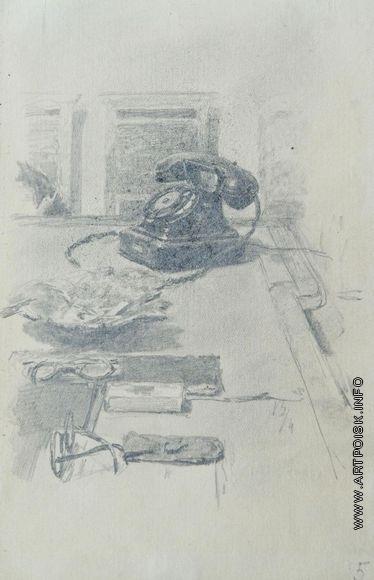 Серов В. А. На письменном столе. Телефон