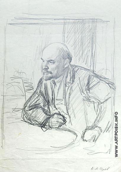 Серов В. А. Набросок к портрету В.И. Ленина