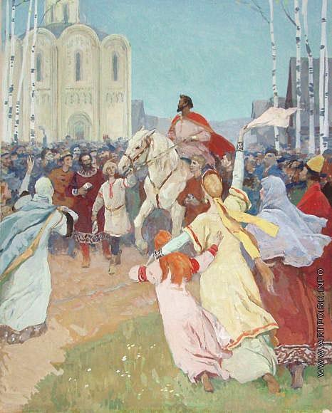 Серов В. А. Встреча Игоря. Иллюстрация к «Слову о полке Игореве»