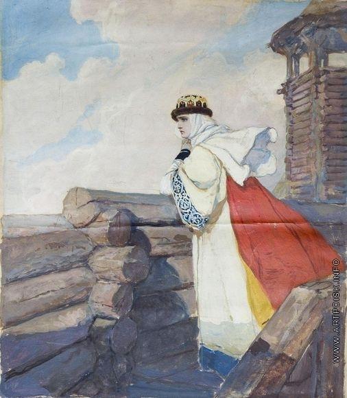 Серов В. А. Ярославна в Путивле. Иллюстрация к «Слову о полке Игореве»