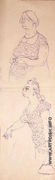 Серов В. А. Две женские фигуры
