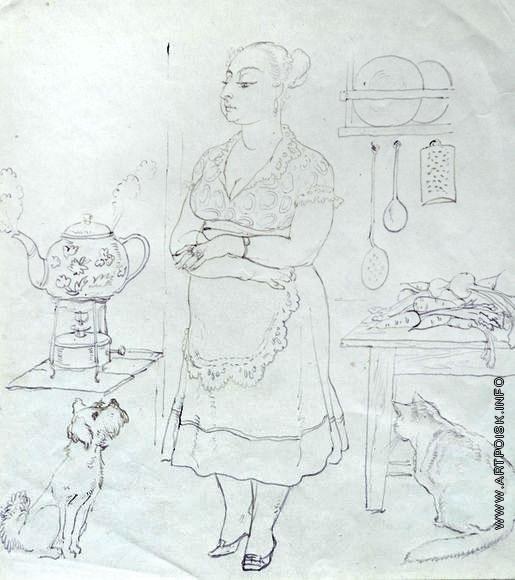 Серов В. А. На кухне