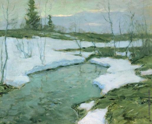 Бялыницкий-Бируля В. К. Вечер ранней весны