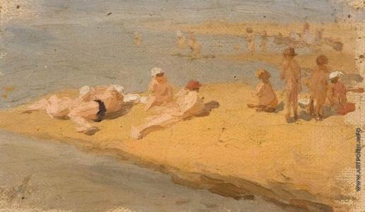 Первухин К. С. На пляже