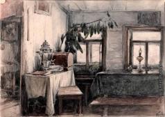Первухин К. С. Комната в квартире Фроловой