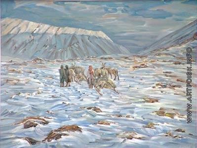 Абатуров В. П. Встреча на перевале. Полярный Урал