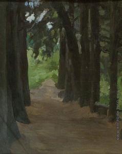 Степанов А. С. Аллея в парке Гарусово