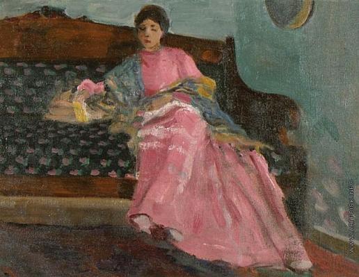 Степанов А. С. Женщина в розовом платье