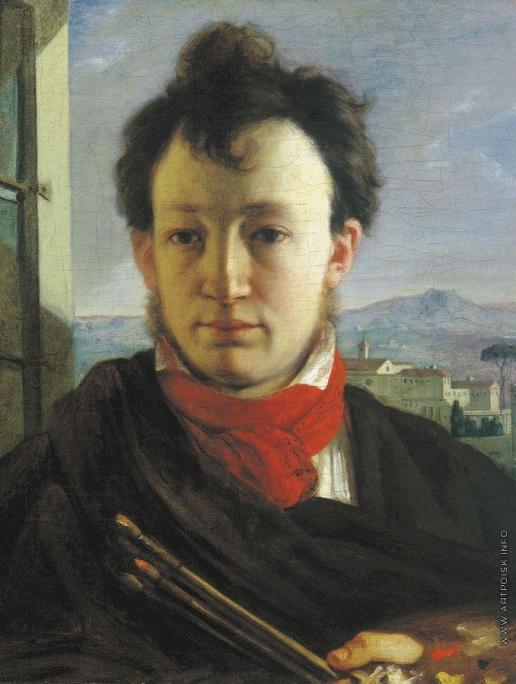 Варнек А. Г. Автопортрет с палитрой и кистями в рук