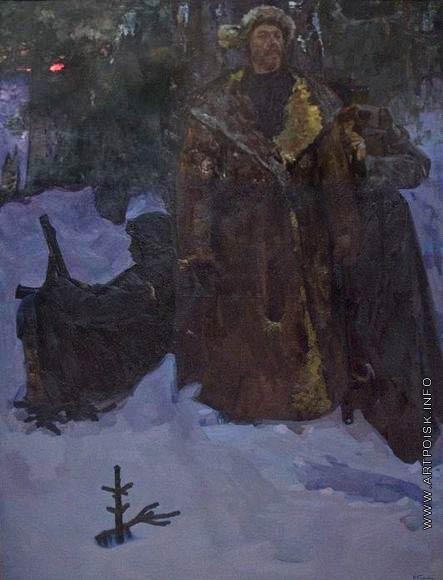 Комиссаров Н. А. Этюд к картине «Партизаны»