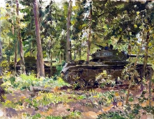 Модоров Ф. А. Танки «KB» в лесу. Этюд