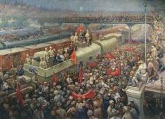 Модоров Ф. А. Встреча бронепоезда «III Интернационал» в Баку в 1920 году