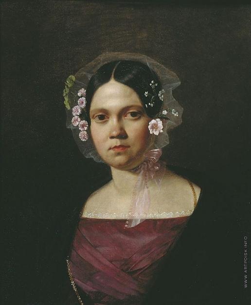 Васильев А. А. Портрет Е.А. Аникеевой, сестры художника, в молодости