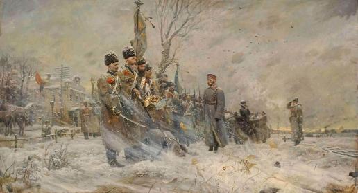 Рыженко П. В. Прощание с конвоем (№1 из Триптиха «Царская Голгофа»)