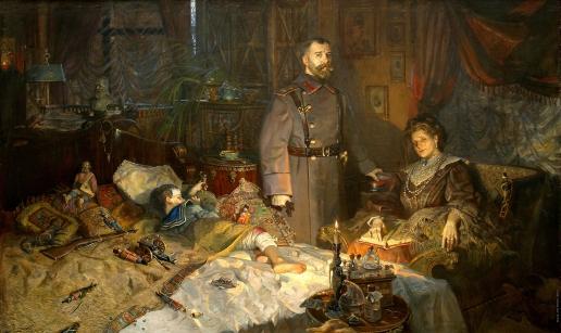 Рыженко П. В. Александровский дворец (№2 из Триптиха «Царская Голгофа». Заточение)