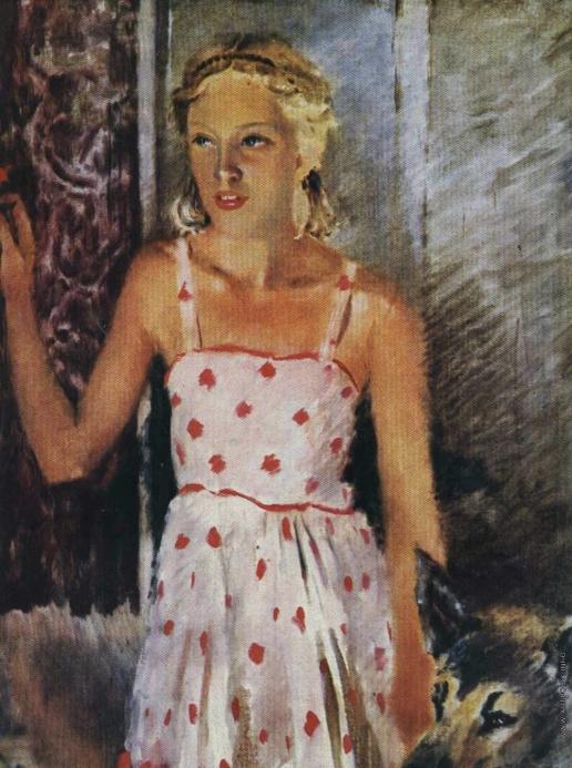 Самохвалов А. Н. Портрет дочери художника Аллы