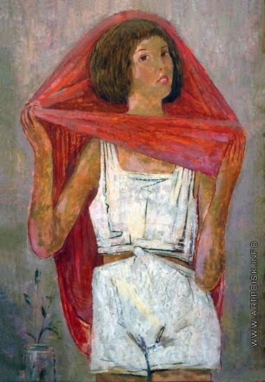 Самохвалов А. Н. Девочка, надевающая платье