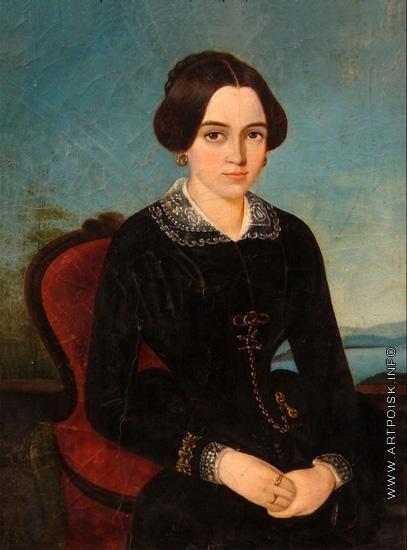 Крендовский Е. Ф. Портрет молодой дамы в черном платье