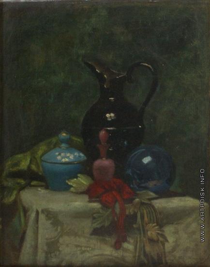 Платонов Х. П. Натюрморт с черным кувшином