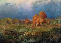 Васильев Ф. А. Болото в лесу. Осень