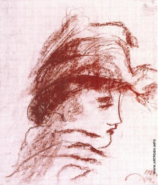 Чекрыгин В. Н. Женщина в шляпке