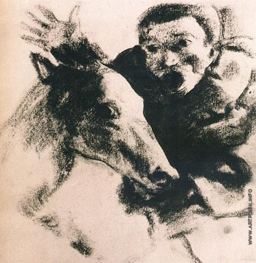 Чекрыгин В. Н. Голова лошади и раб
