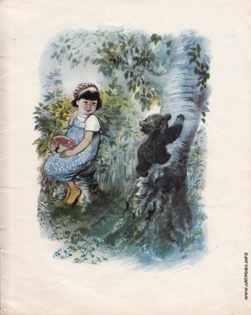 Чарушин Е. И. Иллюстрации к книге «Мишка — Башка»