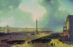 Чернецов Г. Г. Парад по случаю открытия памятника Александру I в Санкт-Петербурге 30 августа 1834 года