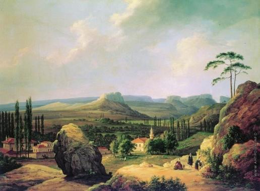 Чернецов Н. Г. Вид Каралезской долины на южном берегу Крыма