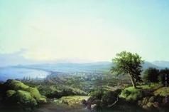 Чернецов Н. Г. Вид города Саратова при заходе солнца