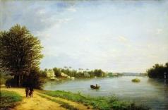 Чернецов Н. Г. Вид на Елагин остров в Петербурге