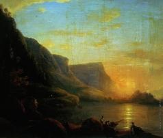 Чернецов Н. Г. Озеро на закате